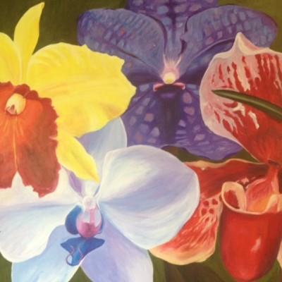 foto vierkant orchideeen